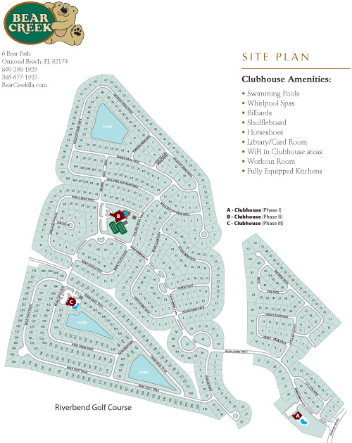 Bear Creek Site Plan